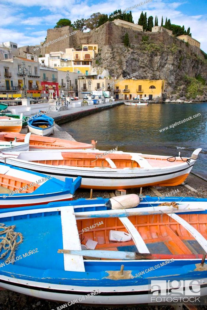 Stock Photo: Lipari Island. Eolie Island. Sicily. Italy.