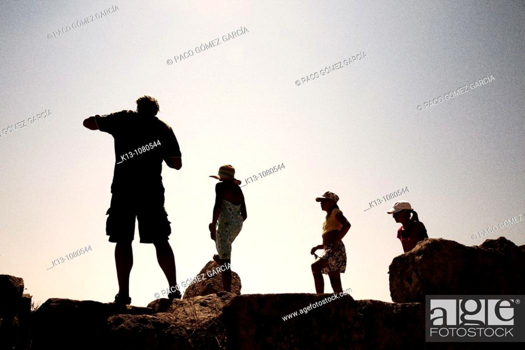 Stock Photo: Tourists at the ruins of Selinunte Sicily Italy.