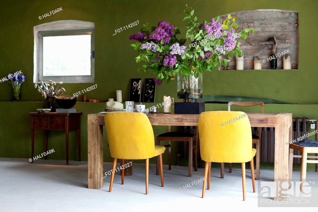 Stock Photo: A stylish dining room.