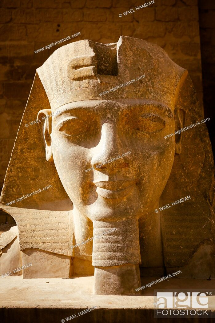 Stock Photo: Statues of king Ramesses II, Luxor temple, Luxor city, Egypt.