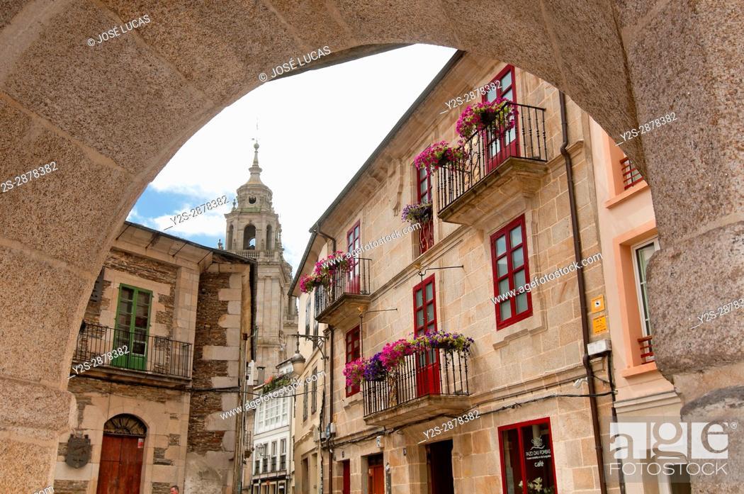 Stock Photo: Urban view, Lugo, Region of Galicia, Spain, Europe.