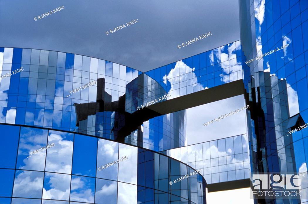 Stock Photo: Headquarters of the Attorney General building by Oscar Niemeyer, Brasilia, Brazil.