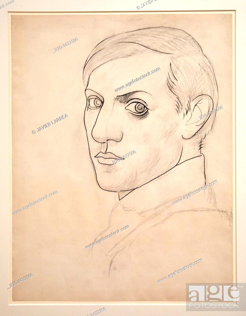 """Stock Photo: """"""""""""Autoportrait"""""""", 1918, Pablo Picasso, 1881-1973, Musée de l'Armée, Paris, France."""