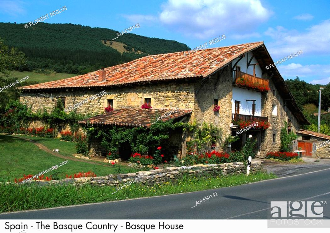 Stock Photo: Spain - The Basque Country - Basque House.