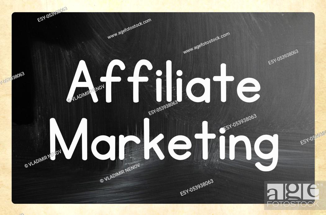 Stock Photo: affiliate marketing concept.