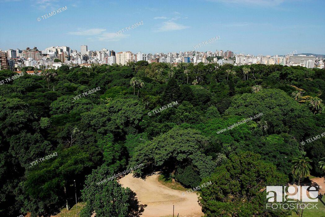 Stock Photo: Cityscape, city, building, construction, architecture, trees, Porto Alegre, Rio Grande de Sul, Brazil.