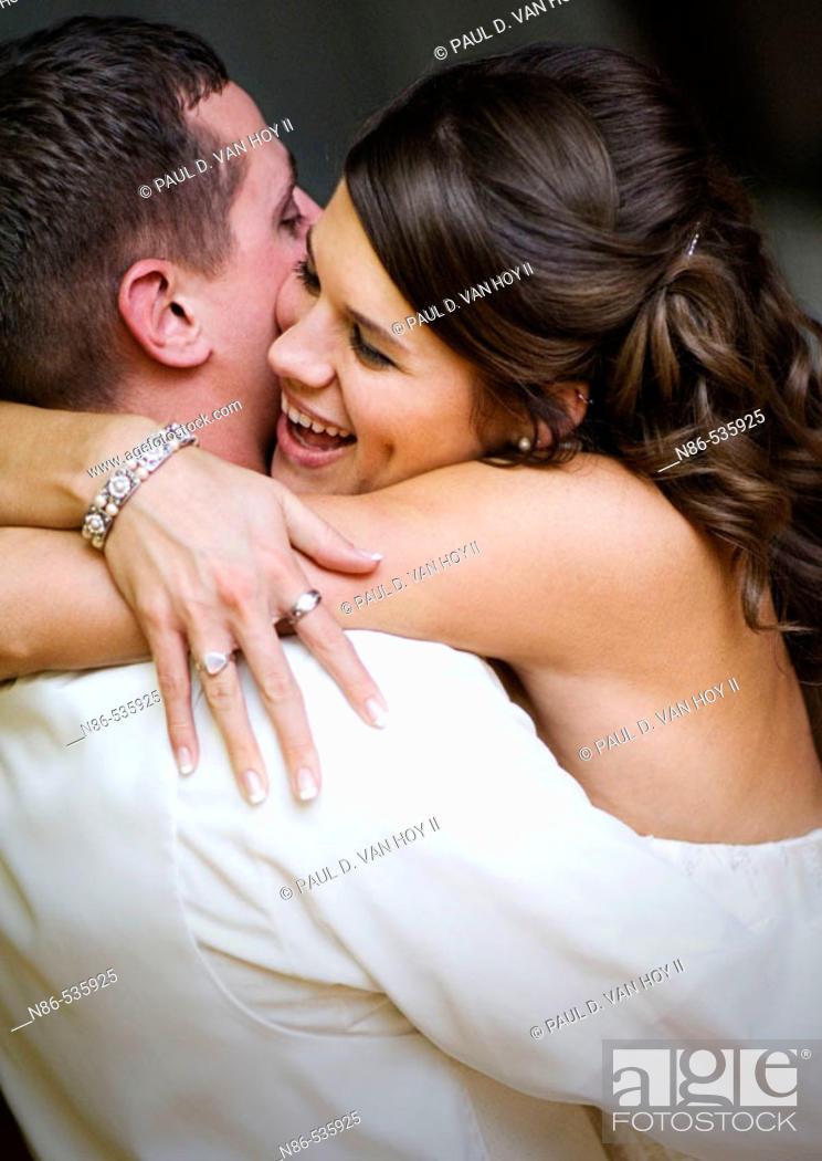 Stock Photo: Bride dancing with groom.