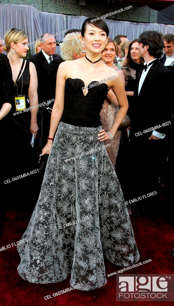 Ziyi Zhang Wearing A Giorgio Armani Gown At Arrivals For OSCARS