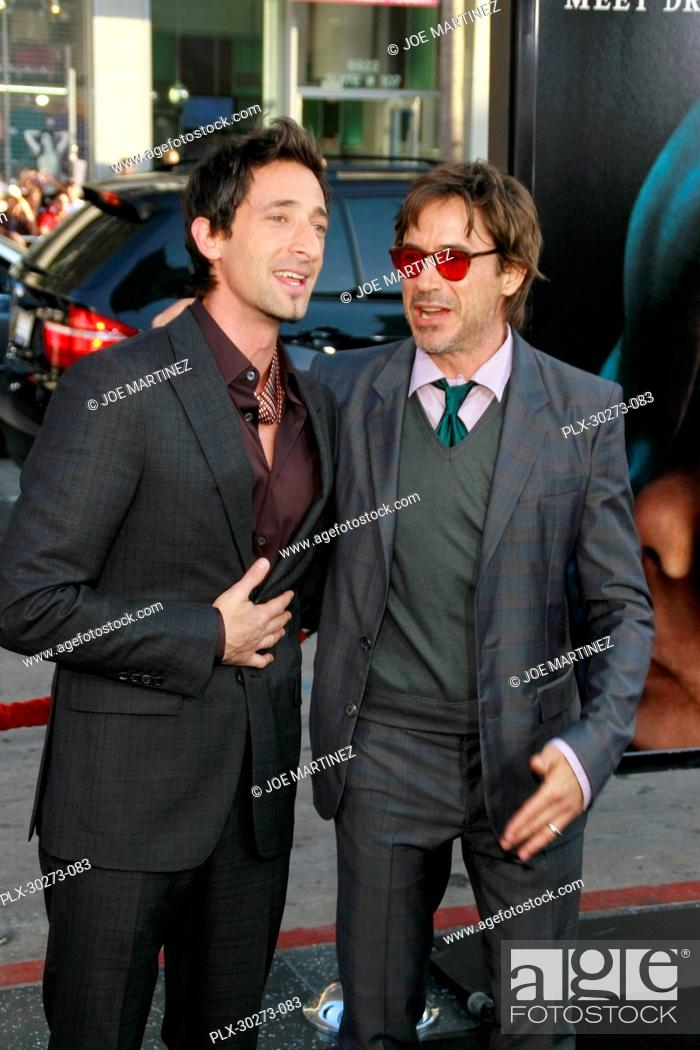 Stock Photo: Adrien Brody and Robert Downey Jr. at the Premiere of Warner Bros. Pictures' Splice. Arrivals held at Grauman's Chinese Theatre in Hollywood, CA, June 2, 2010.