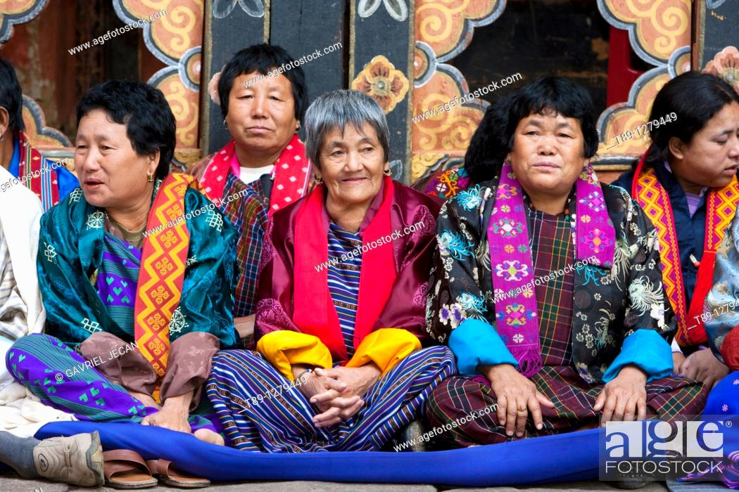 Stock Photo: Bhutanese people portret.