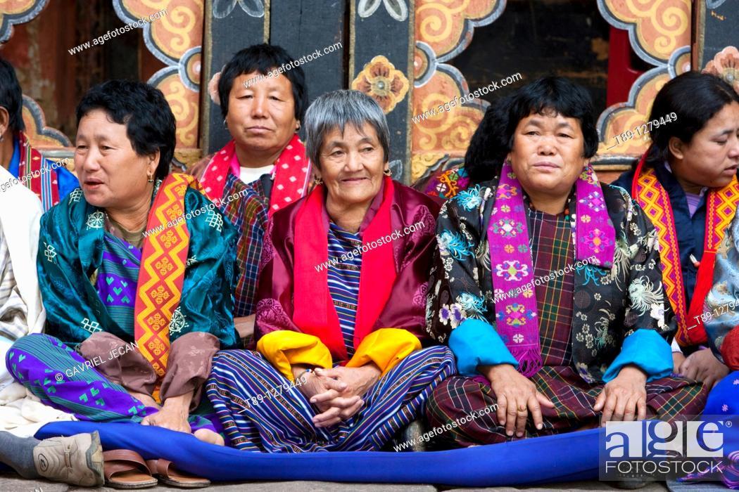 Stock Photo: Bhutanese people portret.