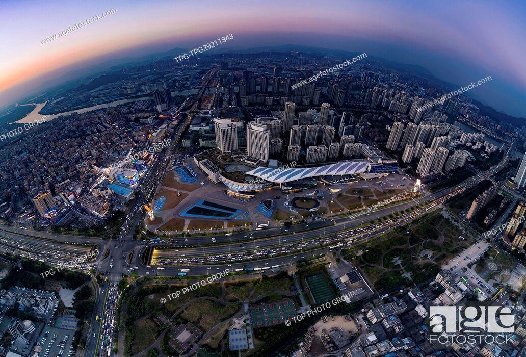 Stock Photo: Huafa commercial Plaza;Zhuhai;Guangdong;China.