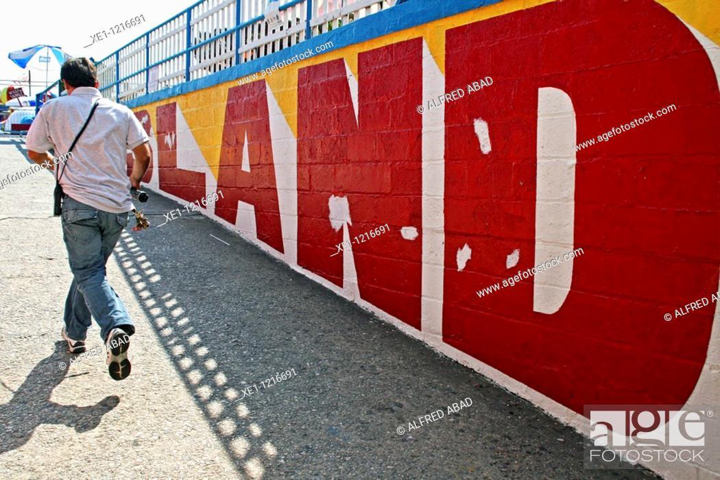Stock Photo: tagline, Coney Island, New York, USA.