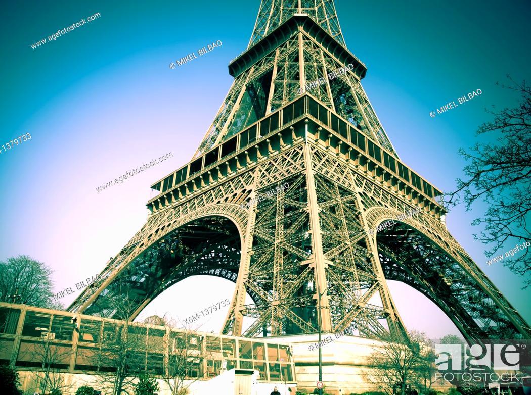 Stock Photo: Eiffel Tower  Paris, France.