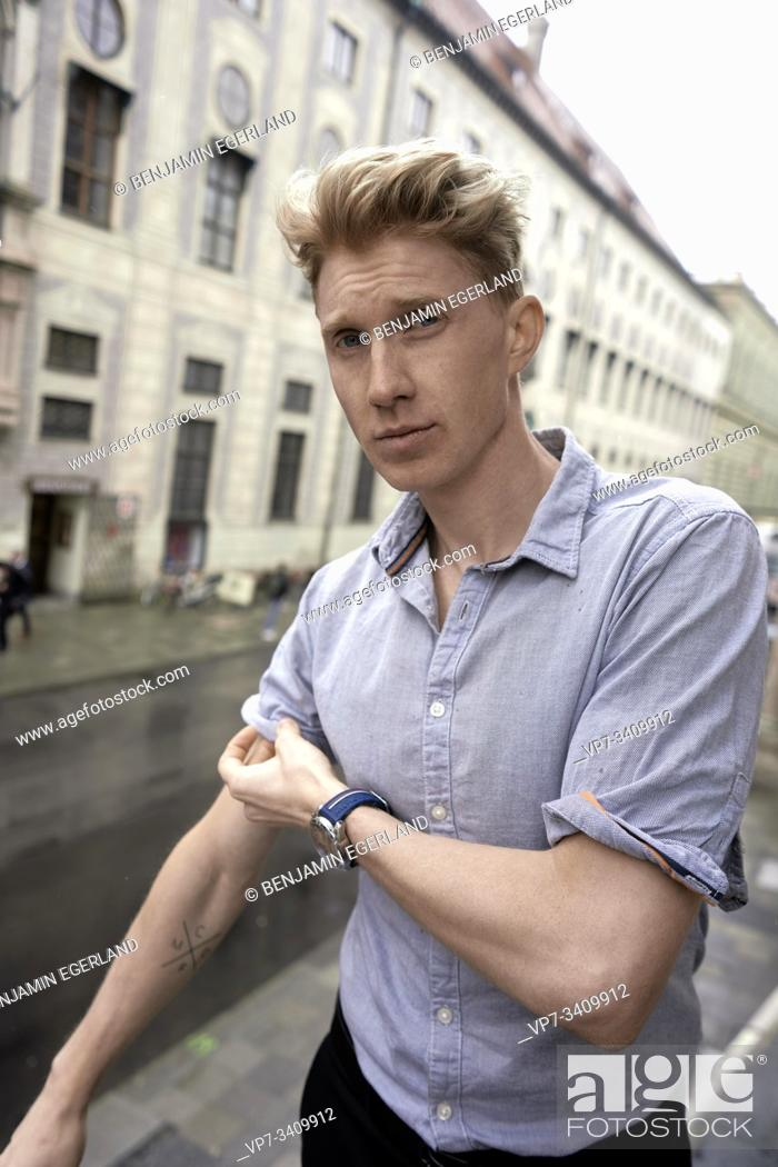 Stock Photo: young man, in Munich, Germany.