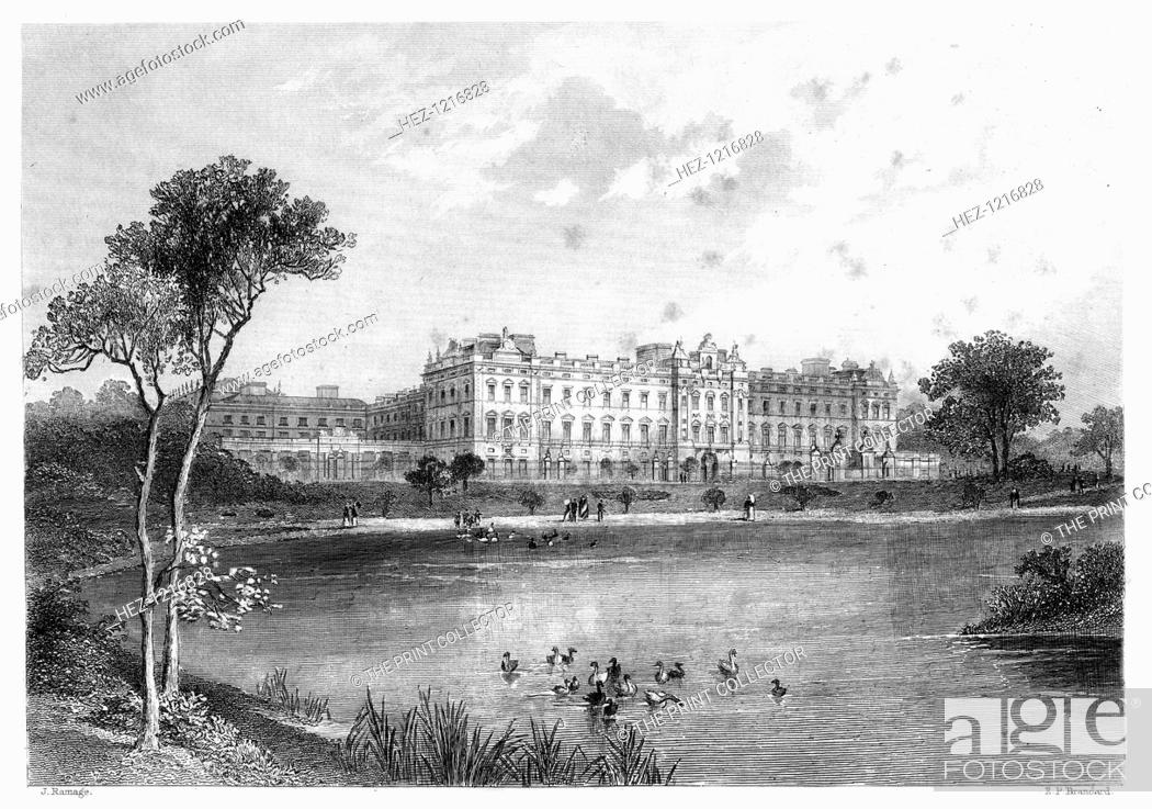 Imagen: Buckingham Palace, London, 1899. An engraving from James Taylor's The Victorian Empire, William Mackenzie, London, 1899.