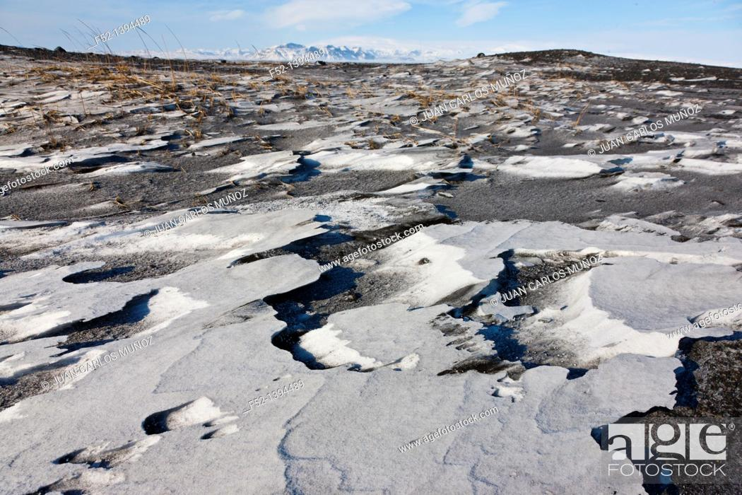 Stock Photo: Winter landscape, Southern Iceland, Iceland, Europe.