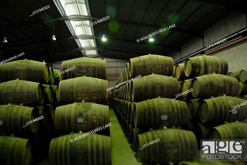 Stock Photo: Port Wine Cellar Pinheiro Duoro River Valley Portugal.