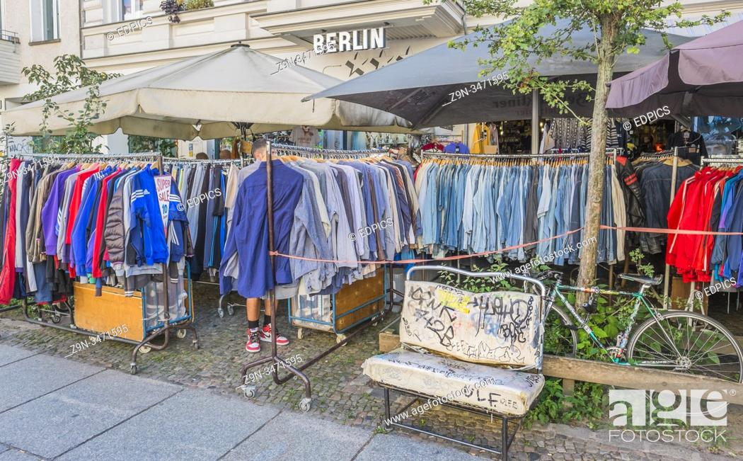 Stock Photo: second hand clothes store, prenzlauer berg, berlin, germany.
