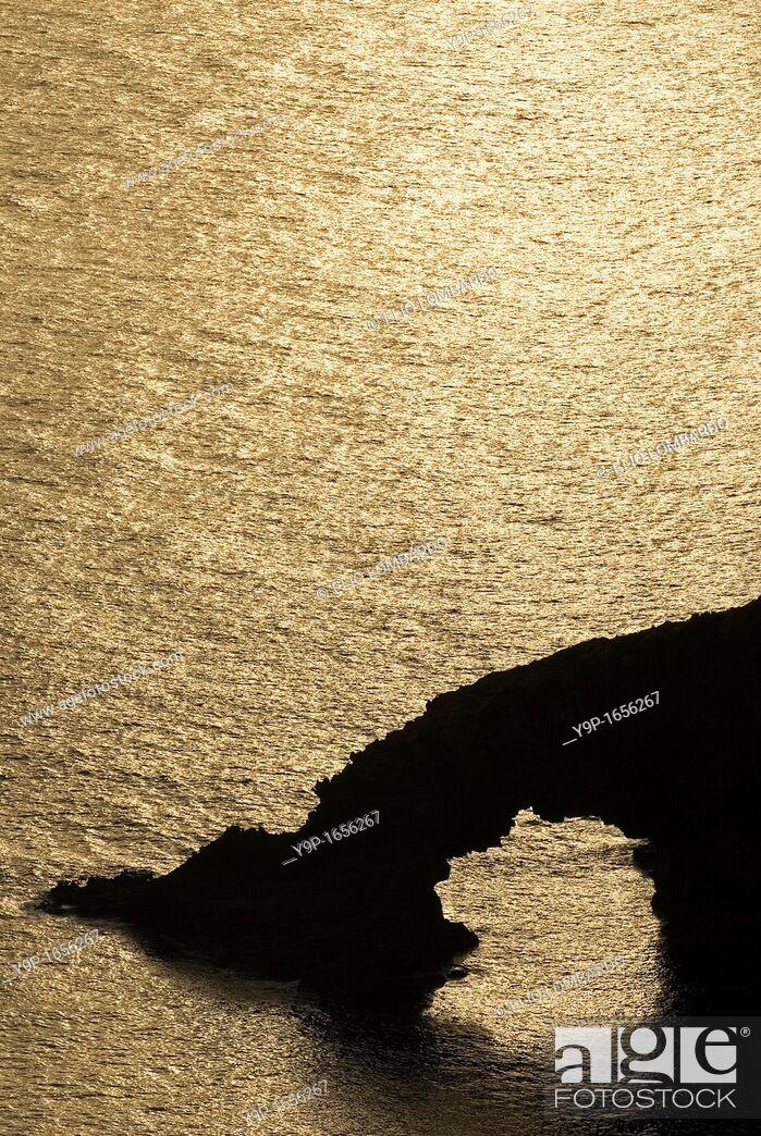 Stock Photo: Elephant's Arch, Pantelleria Island, Trapani, Sicily, Italy.