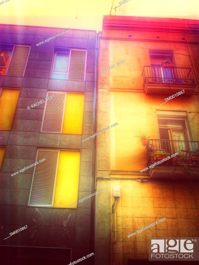Stock Photo: Urban Scene, Clot neighborhood, Barcelona, Catalonia.