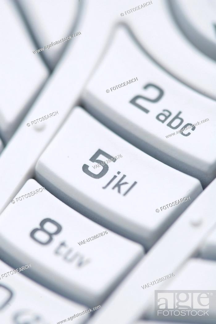 Stock Photo: Indoors, Black And White, Full Frame, Close-Up, Button, Alphabet.