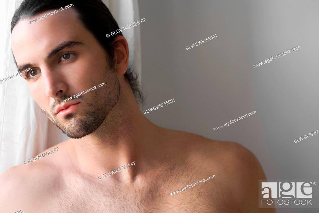Stock Photo: Close-up of a man thinking.