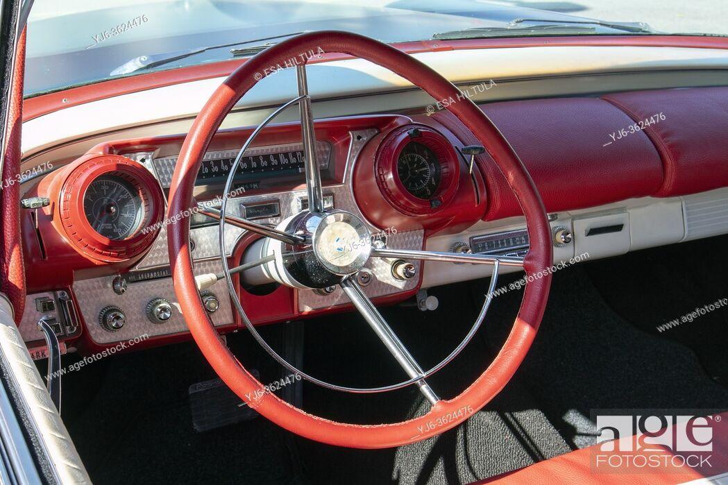 Stock Photo: 1957 Mercury Turnpike Cruiser detail.