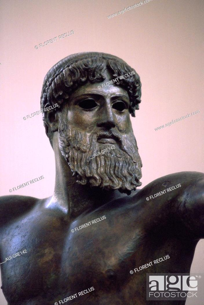 Stock Photo: Greece - Athens - National Museum - Poseidon.