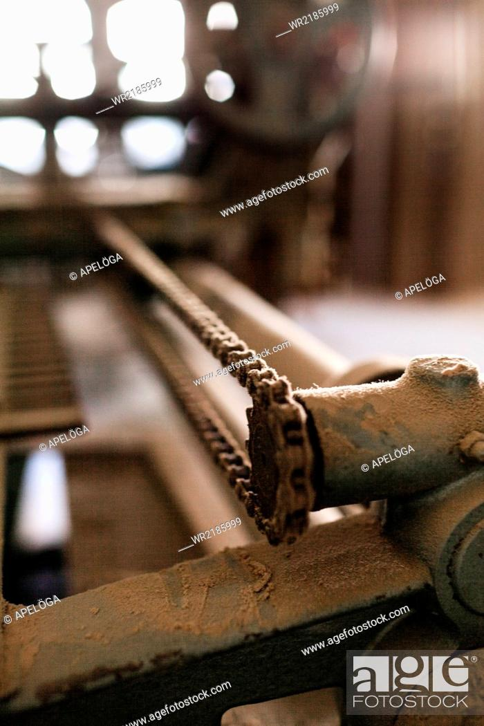 Stock Photo: Close-up of machine in workshop.