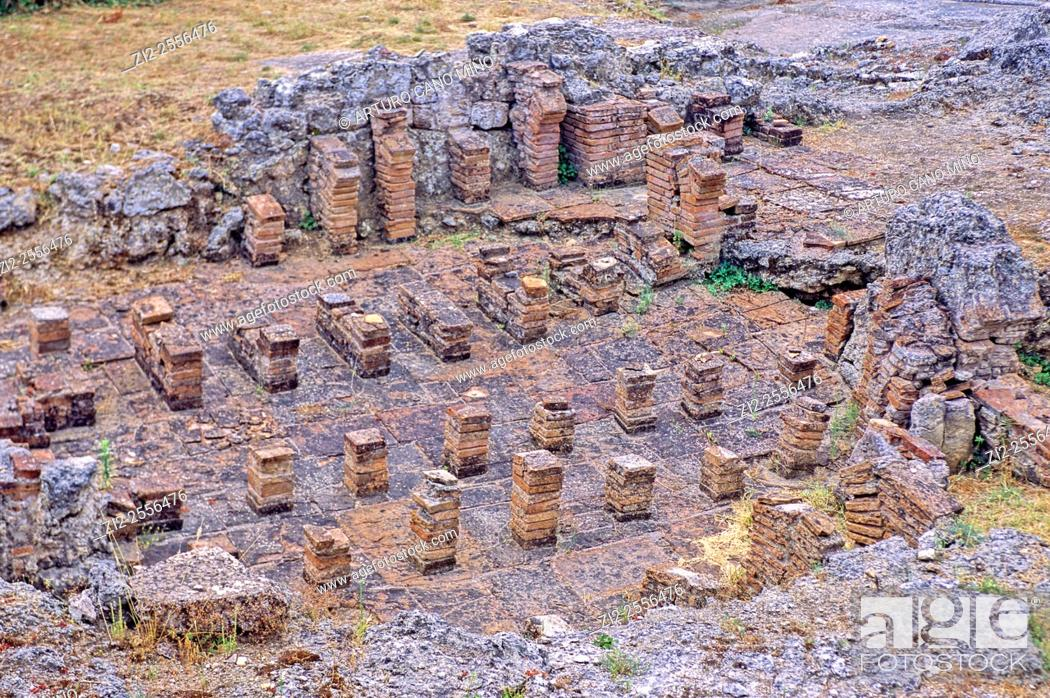 Imagen: Termal baths. Roman ruins of Conimbriga, 1st century BC - 2nd century AD. Coimbra, Portugal.