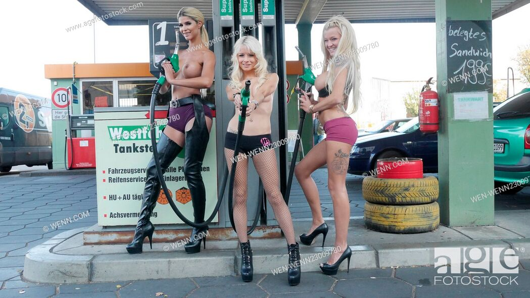 Are not naked in a gas station