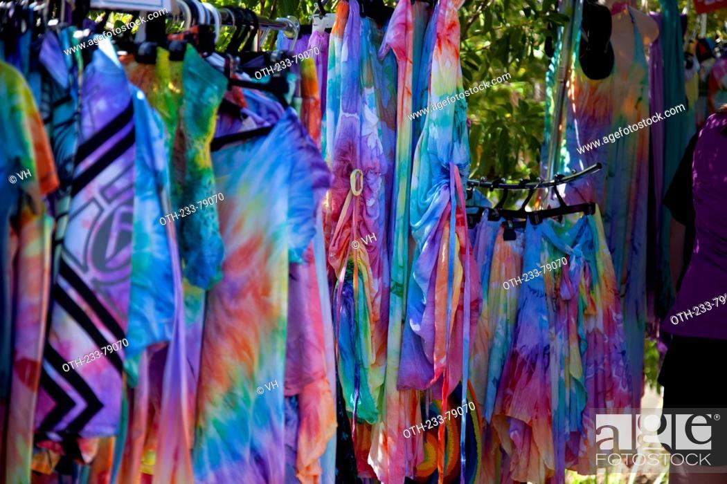 Stock Photo: Eumundi markets, Sunshine Coast, Queensland, Australia.