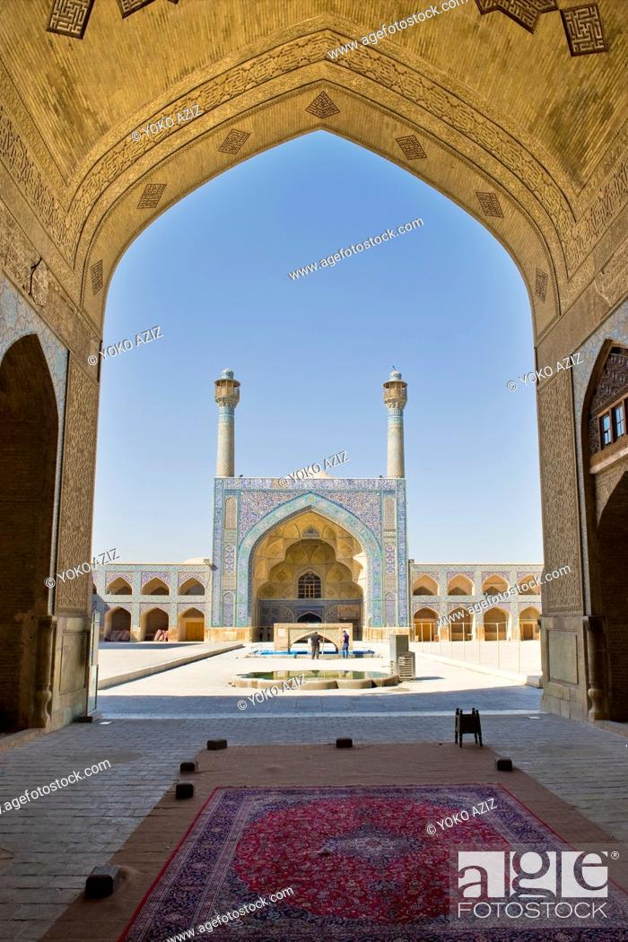 Stock Photo: Iran, Isfahan, old friday mosque.