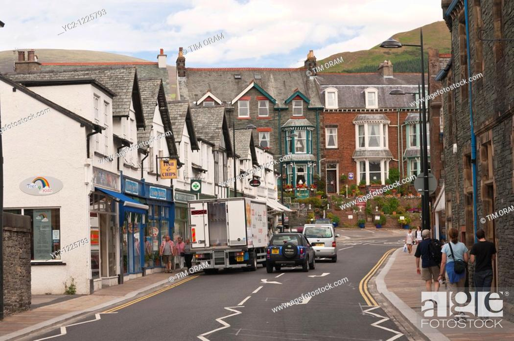 Stock Photo: Keswick , Cumbria , England , Great Britain , Uk.