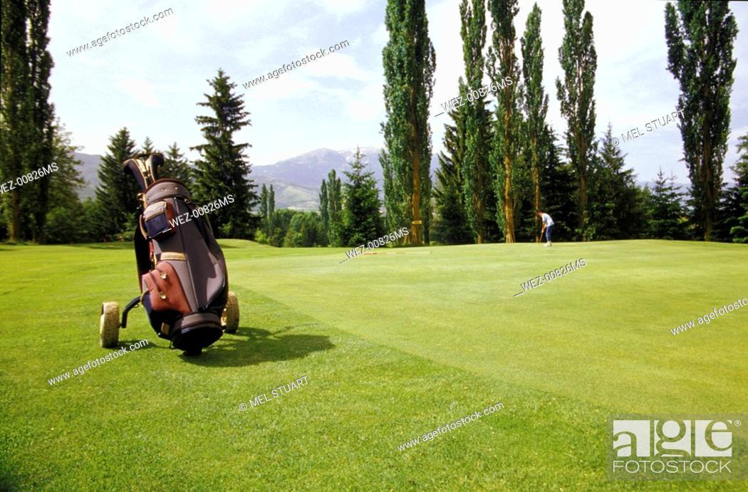 Stock Photo: Golfcourse in Cerdanya, Catalunia, Spain.