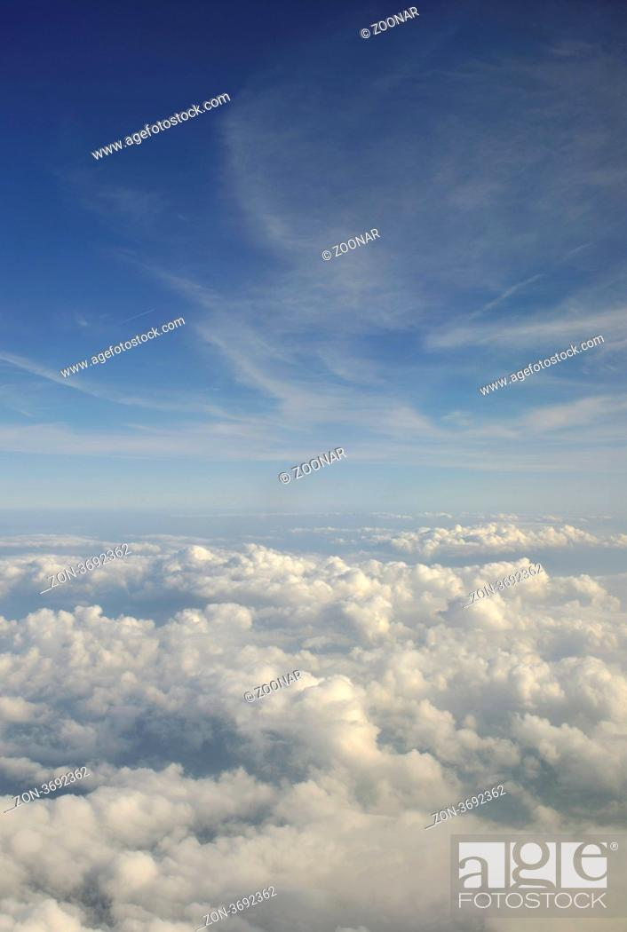 Stock Photo: beautiful landscape outdoor in nature with white clouds.