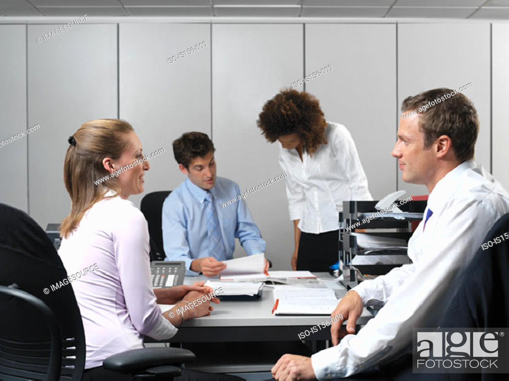 Stock Photo: Busy office.
