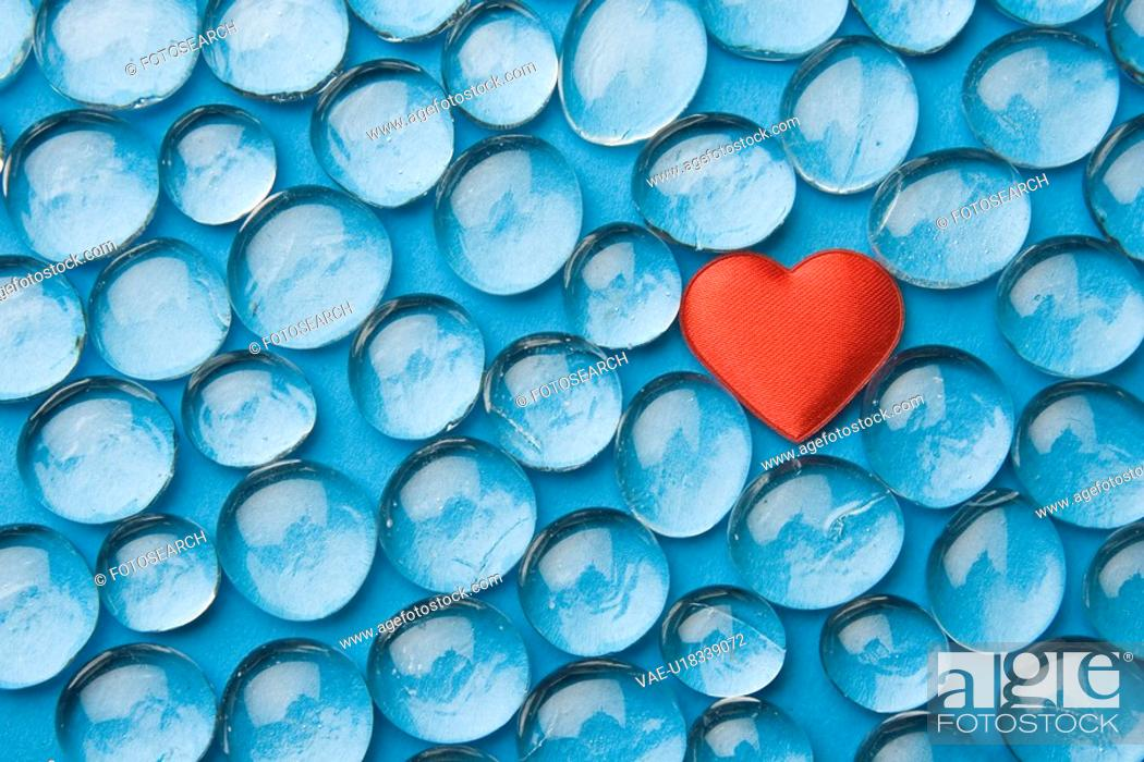 Stock Photo: Bead, Blue, Close-Up, Full Frame, Glass.