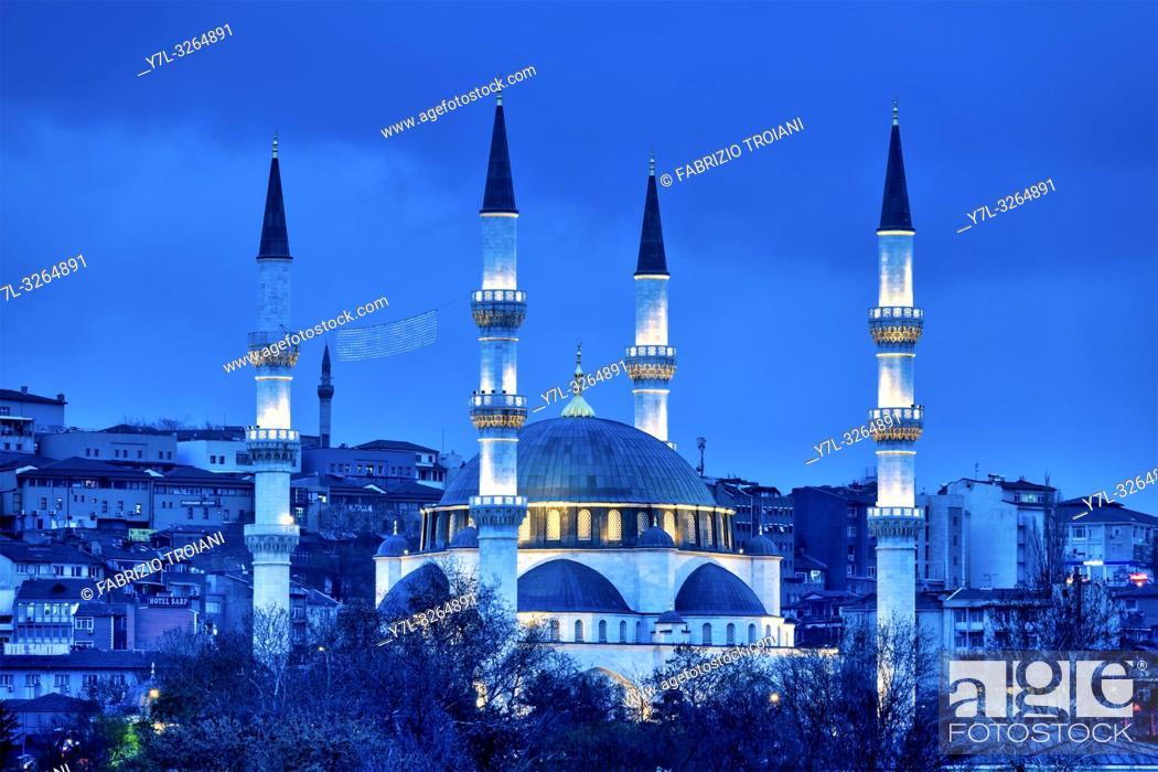 Stock Photo: Melike Hatun Mosque, Ankara, Turkey.