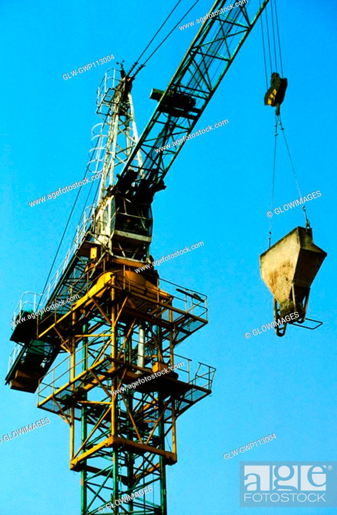 Stock Photo: Low angle view of a crane, Beijing, China.