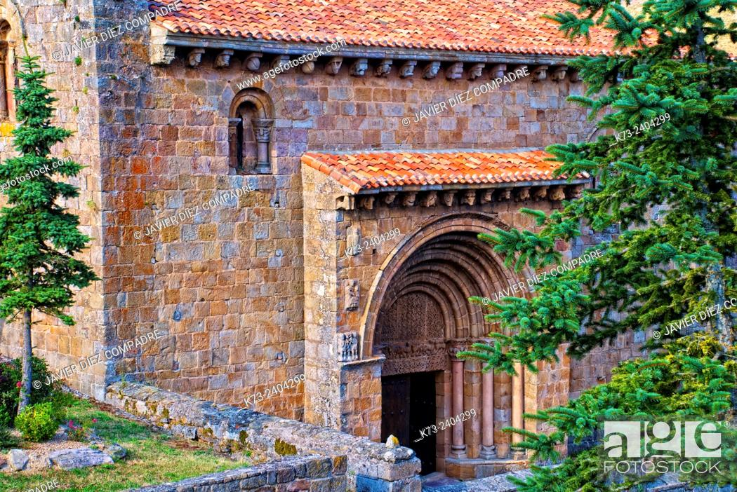 Stock Photo: Romanesque Collegiate Church of San Pedro (12th Century). Cervatos. Cantabria. Spain.