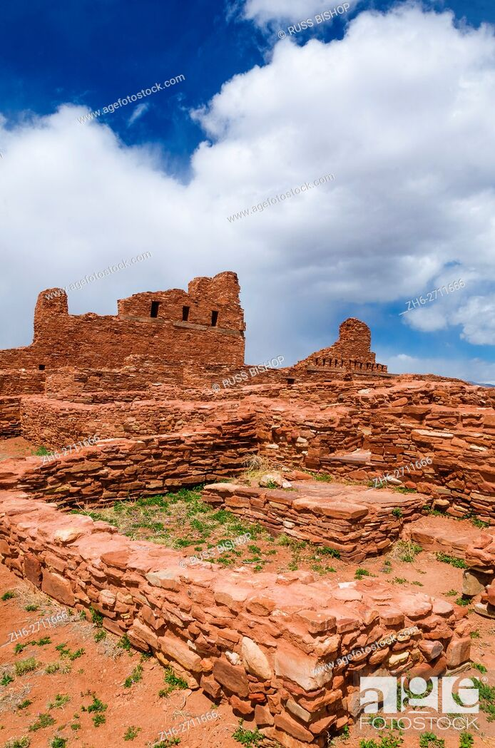 Imagen: San Gregorio Church at Abo Ruins, Salinas Pueblo Missions National Monument. , New Mexico, USA.