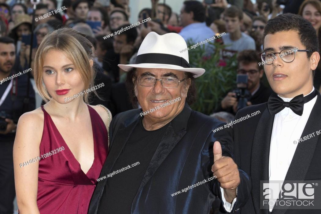 Yasmine Carrisi L R Al Bano Carrisi And Al Bano Jr Carrisi