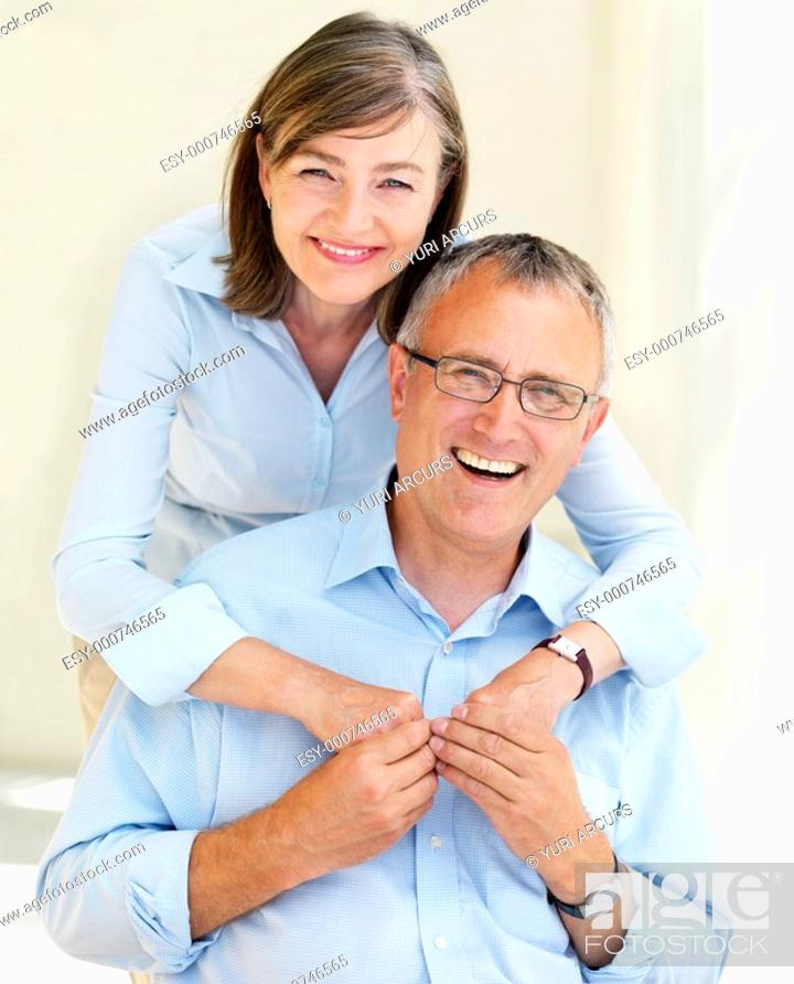 Stock Photo: Closeup of a happy old people looking at camera.