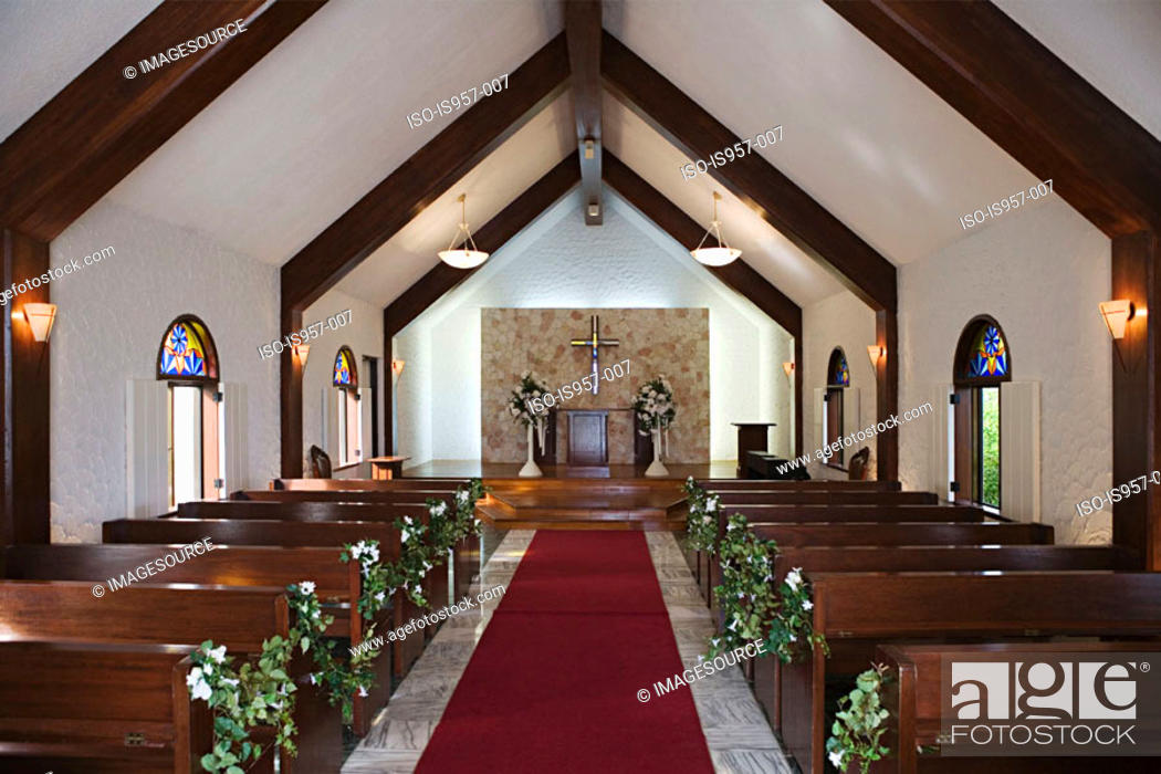 Stock Photo: Church interior.