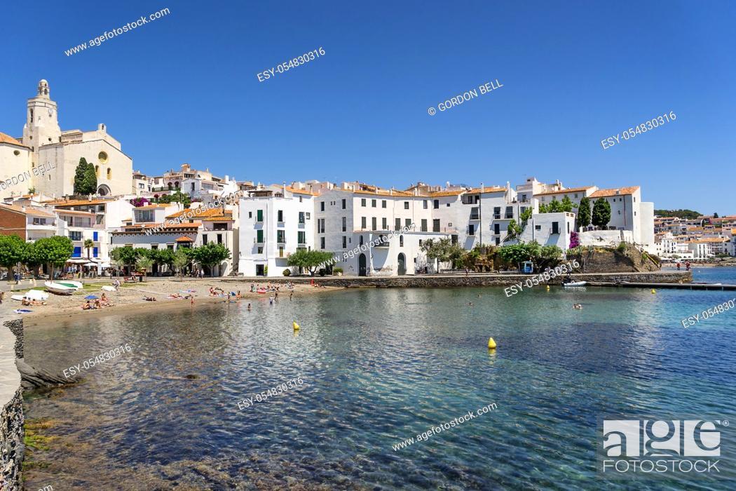 Stock Photo: Cadaques on the Cap de Creus peninsula, Girona Spain.