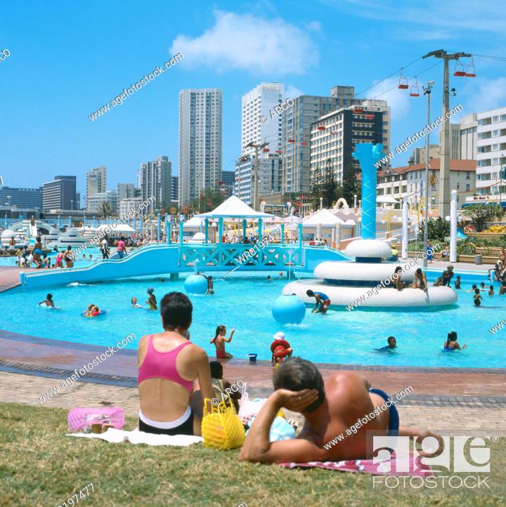 Stock Photo: Swimmingpool, Durban, South-Africa.