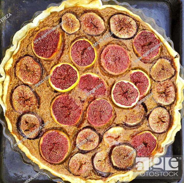 Stock Photo: Tart of figs.