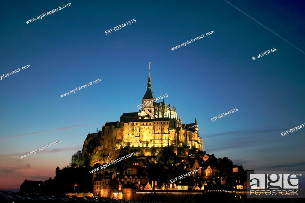 Stock Photo: Mount St-Michel, Normandie, France.